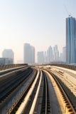 Metro Trein in Doubai, Verenigde Arabische Emiraten Stock Foto