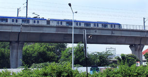 Metro trilho-chennai Fotografia de Stock Royalty Free