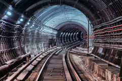 Metro tunel fotografia royalty free