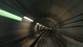 Metro tunel w ruchu Zdjęcie Stock