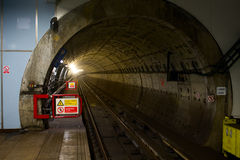 Metro tunnel Royalty Free Stock Photos