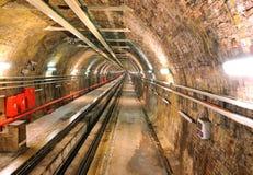 Metro tunnel. Underground metro tunnel in Turkey, Istanbul Taksim stock photos