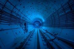 Metro tunnel, construction. stock photos