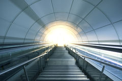 Metro tunnel exit with stairs to the city. San Sebastian. Stock Image