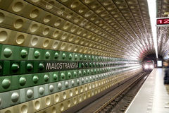 Metro Underground Station, Prague, Czech Republic Stock Images