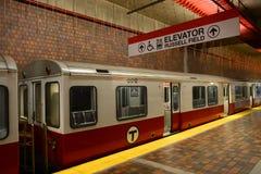 Metro van Boston Rode Lijn, Massachusetts, de V.S. Royalty-vrije Stock Afbeeldingen