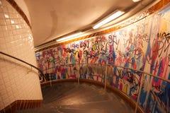Metro van de Abdissen van Parijs trap Royalty-vrije Stock Afbeeldingen