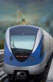 Metro van Doubai Trein Royalty-vrije Stock Afbeeldingen