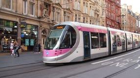 Metro van het binnenland in Birmingham, Engeland stock foto