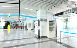 Metro van het de luchthavenoosten van Shenzhen post Stock Afbeeldingen