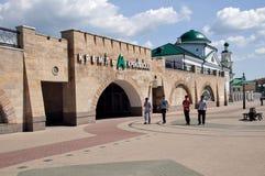 Metro van Kremlevskaya post in Kazan, Rusland Stock Afbeelding
