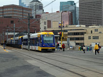Metro van Minneapolis Trein royalty-vrije stock foto's