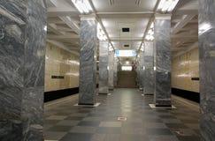 Metro van Moskou, post Sokolniki Stock Afbeelding