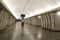 Metro van Moskou, povsednevnij landschapsmetro royalty-vrije stock afbeeldingen