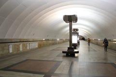 Metro van Moskou, povsednevnij landschapsmetro stock afbeelding