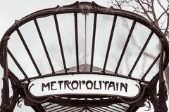 Metro van Parijs teken stock foto