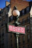 Metro van Parijs Teken Royalty-vrije Stock Afbeeldingen