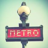 Metro van Parijs teken Stock Afbeeldingen