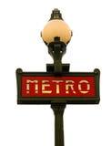 Metro van Parijs teken Stock Afbeelding