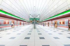 Metro van Praag in Czechia Royalty-vrije Stock Afbeeldingen