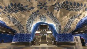 Metro van Stockholm Tijdtijdspanne Zweden stock footage