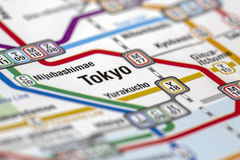Metro van Tokyo postenkaart stock foto's