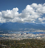 Metro Vancouver with Coast Mountains Stock Photography