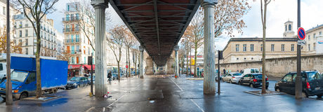 Metro Viaduct in Paris royalty free stock photography