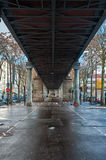 Metro Viaduct in Paris Stock Images