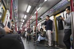 Metro w Hong Kong mnóstwo ludzie Obrazy Stock
