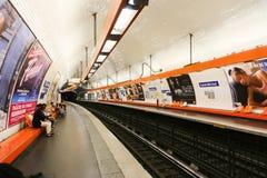 Metro w Paryż Zdjęcia Royalty Free