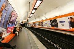 Metro w Paryż Zdjęcia Stock