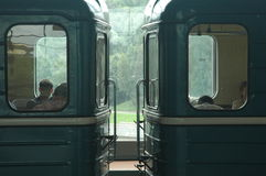 Metro wagens Stock Foto's