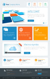 Metro Website Template Royalty Free Stock Images