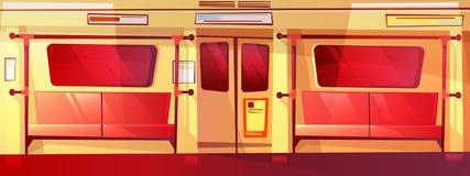 Metro wewnętrzna bezszwowa wektorowa ilustracja ilustracji