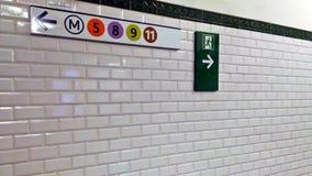 Metro Wykłada kierunek zdjęcia royalty free