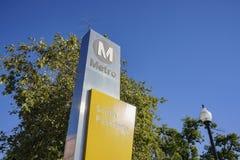 Metro Zuid- van Pasadena post stock foto
