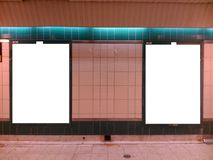 Metroaanplakborden 2 Stock Afbeeldingen