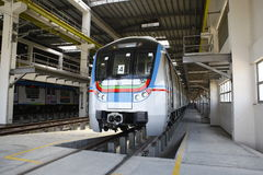 Metrobahnstation Stockfoto