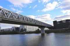 Metrobrücke Myakininskiy (Mitinskiy) Lizenzfreies Stockbild