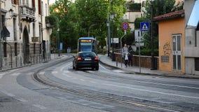 Metrobus in de stad stock footage