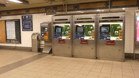 Metrocard-Automaten stock video footage