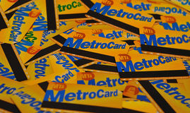 Metrocards de NYC photographie stock libre de droits