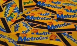 Metrocards di NYC Fotografia Stock Libera da Diritti