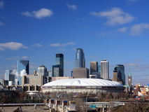 Metrodome in Minneapolis Stock Afbeeldingen