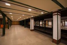 Metroeinde in Boedapest, Hongarije royalty-vrije stock afbeelding