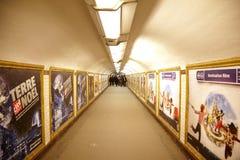 metrofolket station gångtunnelen till Arkivbilder