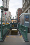 Metroingang bij 23ste Straat in NYC Stock Afbeelding