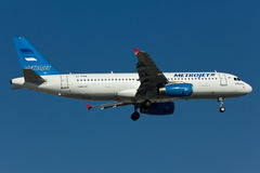 Metrojet Airbus A320 Plane royalty free stock photo