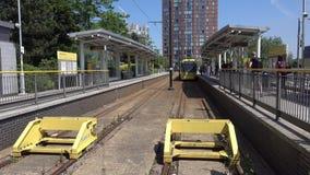 Metrolink σε MediacityUK απόθεμα βίντεο
